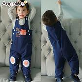 長袖套裝 狐狸刺繡 吊帶褲 條紋上衣 男寶寶 女寶寶 Augelute 47006
