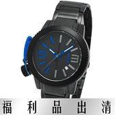 【台南 時代鐘錶 LiCORNE】力抗 LI095LBBA-N MK-III系列特立獨行風格腕錶 藍/黑鋼 40mm