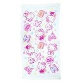 【Sanrio三麗鷗】凱蒂貓點心時刻紗蘿童巾 100%棉 27x54cm