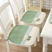 田園餐桌椅墊四季通用純棉坐墊防滑辦公室電腦椅墊子  居家物語