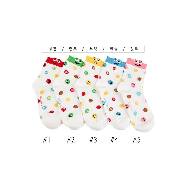 韓國MM造型短襪-多款任選 (SOCK-116-W)