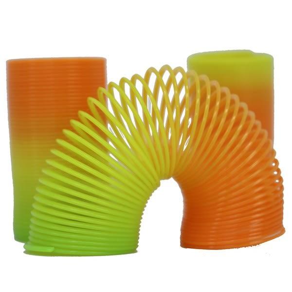 彈簧圈 小長 妙妙圈 彩虹圈 童玩/一袋12個入{促10} 彩色塑料~CF60046