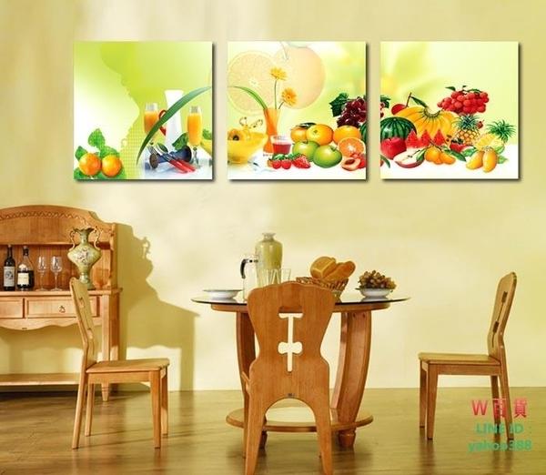 無框畫裝飾畫酒店飯店走廊掛畫水果畫餐廳三聯畫壁畫掛畫