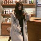 韓版毛呢寬鬆冬毛呢外套女新款百搭連帽中長款冬季大衣長款 - 歐美韓