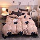 水洗棉純棉 床罩被套組 四件套寢室床單被...