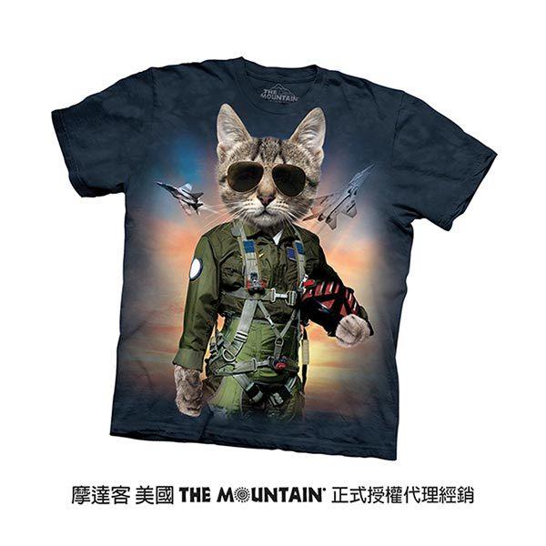 【摩達客】(預購)美國進口The Mountain 湯姆克魯貓 純棉環保短袖T恤(10415045007)
