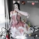 聖誕節 2021年萬聖節服裝cosplay可愛兔女郎性感制服誘感女仆裝聖誕裝女 格蘭小鋪