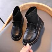 兒童靴子 女童靴子春秋單靴2020新款冬兒童馬丁靴襪子靴小女孩加絨公主短靴【全館活動】