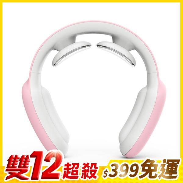電動 按摩 熱敷 頸罩 可調節 USB 可充電 脖子 痠痛 僵硬 落枕 頸紋 舒緩疲勞  『無名』 P08114