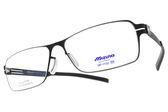MIZUNO 美津濃 光學眼鏡 MF1732 C05 (霧黑) 簡約方框款 β鈦眼鏡 # 金橘眼鏡