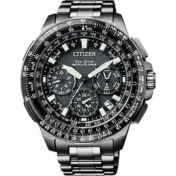 【送米奇電扇】CITIZEN 光動能GPS衛星對時鈦金屬限量腕錶-黑x47mm CC9025-51E