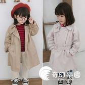2018秋裝新款韓版潮外套童裝中小女童兒童裝女寶寶風衣中長款兒童-奇幻樂園