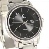 【萬年鐘錶】 日系SIGMA 經典黑女錶 1122L-1