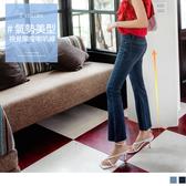 《BA5658》激纖美型刷色抽鬚彈性喇叭牛仔褲--適 2L~5L OrangeBear