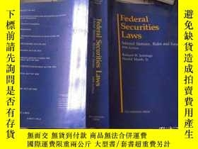 二手書博民逛書店Federal罕見Securities Laws Selected Statutes Rules and Form