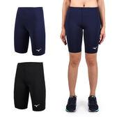 MIZUNO 男女緊身五分褲 (免運 慢跑 路跑 健身 瑜珈 有氧≡排汗專家≡
