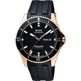 陳庭妮配戴款 MIDO 美度 Ocean Star Caliber 80 200m潛水機械手錶-黑 M0264303705100