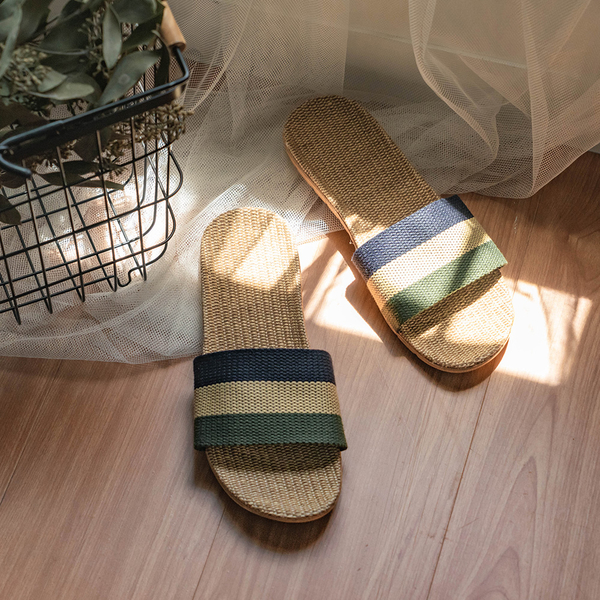 亞麻拖鞋 室內外居家拖鞋 海灘涼鞋 透氣 涼爽 男【N010】