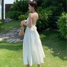 露背洋裝拍照衣服海邊巴厘島三亞沙灘裙性感...