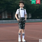 熊孩子❤迷彩軍訓套裝大合唱演出服裝男童女童背帶褲(主圖款1)
