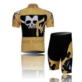 自行車衣套裝-含短袖腳踏車服+單車褲-越野性格短套男運動服69u35【時尚巴黎】