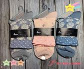 【京之物語】日本製造Guilleret立體花紋華麗女性彈性短襪(藍/粉/紫)