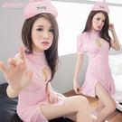 護士服 挖胸粉紅色洋裝 澎澎短袖連身裙 角色扮演白衣天使護士裝- 愛衣朵拉