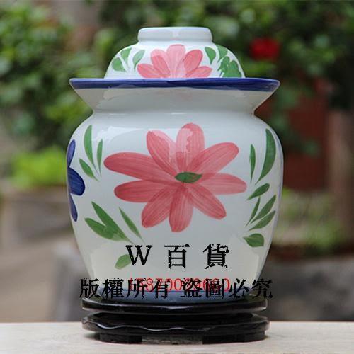 景德鎮陶瓷泡菜玻璃罐 手繪蘭花陶瓷花瓶 密封腌菜 咸菜罐 環保無鉛