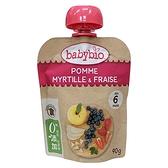 法國Babybio 生機蘋果藍莓草莓纖果泥 90g[衛立兒生活館]