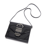 Petite Jolie  復古金屬扣飾果凍信封包-黑色