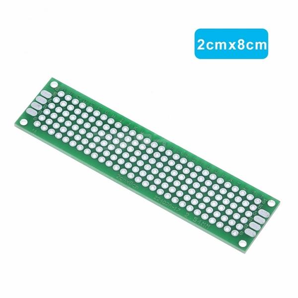 萬用板 萬用電路板 洞洞板 單面 雙面 [電世界1607-28] 雙面 單點 2*8cm