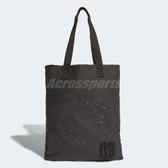 adidas 包包 Originals Shopper Bag 購物袋 單肩背 肩背 托特包 男女款 三葉草 黑 【ACS】 BQ8159