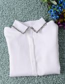 雪紡襯衫女長袖白上衣韓范百搭寬鬆大碼