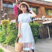 洋裝-夏裝中長版正韓女裝學生潮兩件套月光節
