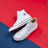 Converse Chuck Taylor All Star 白色 皮革 高筒 基本款 休閒鞋 132169C