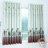 窗簾成品加厚遮光隔熱布料飄窗短簾簡約現代臥室客廳【叮噹百貨】