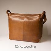 Crocodile Naturale Collection 2.0 橫式側背包0104-07703