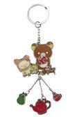 【卡漫城】 拉拉熊 鑰匙圈 下午茶 ㊣版 rilakkuma 鋅合金 手機吊飾 包包掛飾  拉鍊 掛環 懶懶熊