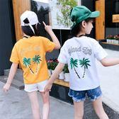 上衣 女童短袖t恤兒童夏裝女大童半袖上衣新款童裝打底衫韓版體恤 艾美時尚衣櫥