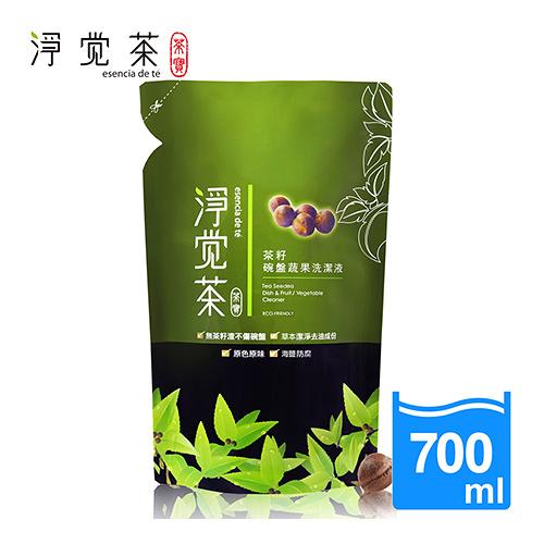 茶寶 淨覺茶 天然茶籽蔬果碗盤洗潔液 補充包 700ml【BG Shop】洗碗精
