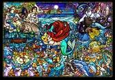 【拼圖總動員 PUZZLE STORY】小美人魚的故事 日本進口拼圖/Tenyo/迪士尼/500P/迷你/透明塑膠