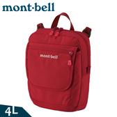 【Mont-Bell 日本 Travel Pouch M 單肩包 4L《深紅》】1123892/側背包/臀包/休閒包/隨身包