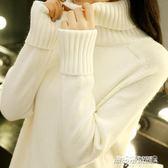 高領毛衣 高領毛衣女秋裝新款韓版寬鬆套頭學生長袖針織打底衫百搭   傑克型男館
