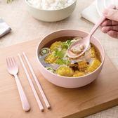 碗筷套裝學生日式簡約米飯碗成人湯面碗塑料泡面餐具勺子叉子筷子 春生雜貨
