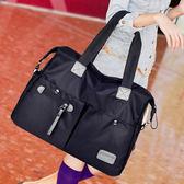 新款正韓女包單肩包手提側背包斜背包大包包尼龍帆布旅行包 萊爾富免運