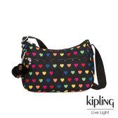 Kipling 繽紛愛心拉鍊側背包-SALLY