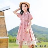 女童連身裙夏裝中大童兒童裙子夏網美女孩公主裙【淘夢屋】