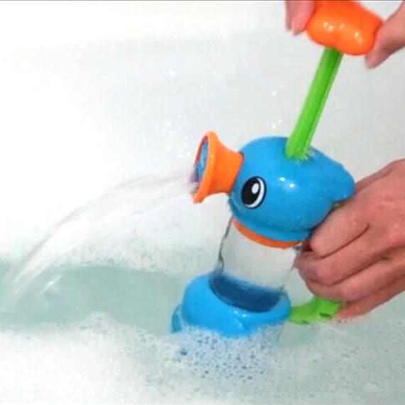 兒童洗澡玩具海馬抽水泵水龍頭花灑 全館免運