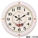 鐘錶掛鐘客廳歐式時尚圓形大氣創意電子石英鐘家用靜音時鐘掛錶LX新年交換禮物