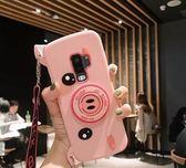 送掛繩 三星 S8 S8+ S9 S9+ 手機殼 軟硅膠 豬鼻子 照相機 創意 可愛 防摔 全包 保護殼 支架 可斜跨